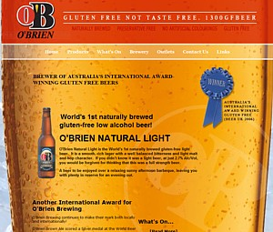 Gluten Free Beer in Victoria - O'Brien Brewing - Ph 1300 432 337